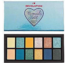 Profumi e cosmetici Palette ombretto occhi - I Heart Revolution Mermaid's Heart Eyeshadow Palette