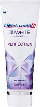 """Profumi e cosmetici Dentifricio """"Perfezione"""" - Blend-a-med 3D White Luxe Perfection"""