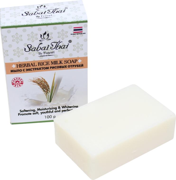 Sapone con estratto di crusca di riso - Sabai Thai Herbal Rice Milk Soap