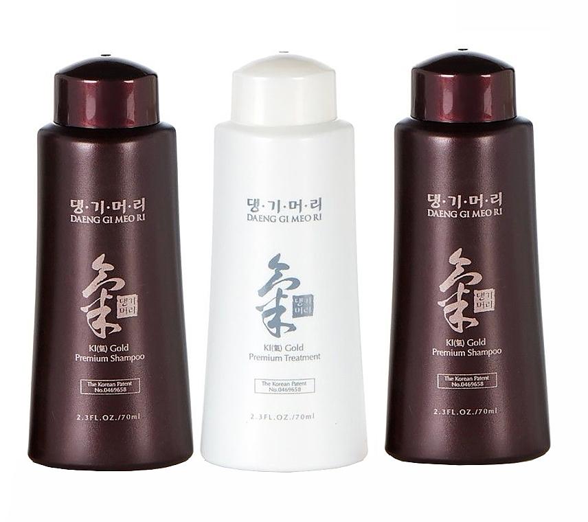 Set - Daeng Gi Meo Ri Ki Gold Hair Care Set (shm/500ml + shm/500ml + shm/500ml + cond/500ml + shm/70ml + shm/70ml + cond/70ml) — foto N3