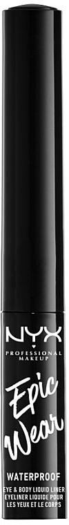 Eyeliner liquido - NYX Professional Makeup Epic Wear Metallic Liquid Liner — foto N1