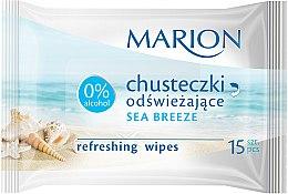 "Profumi e cosmetici Salviette rinfrescanti ""Sea Breeze"", 15 pz - Marion"