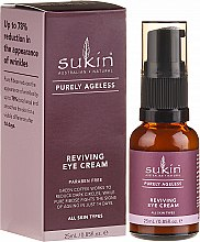 Profumi e cosmetici Crema contorno occhi anti-età - Sukin Purely Ageless Reviving Eye Cream