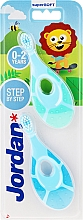 Profumi e cosmetici Spazzolino da denti per bambini, 0-2 anni, blue+azzurro - Jordan Step By Step Soft & Gentle
