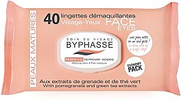 Profumi e cosmetici Salviette struccanti - Byphasse Make-up Remover Pomegranate Extract And Green Tea