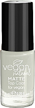 Profumi e cosmetici Top coat - Vegan Natural Matte Top Coat