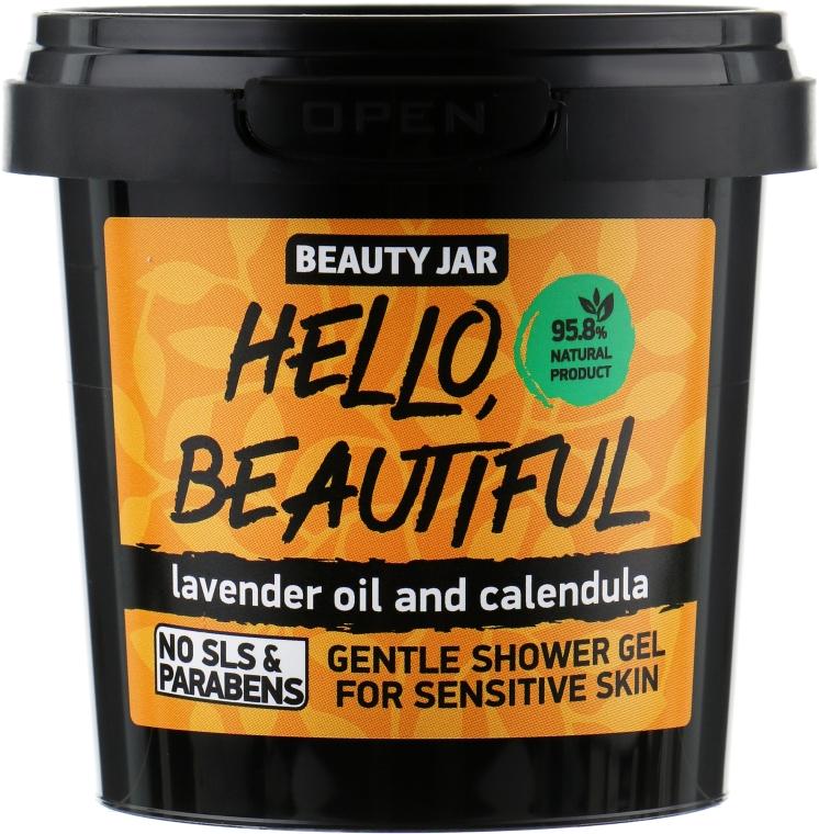"Gel doccia per pelli sensibili con lavanda e calendula ""Hello, Beautiful"" - Beauty Jar Gentle Shower Gel"