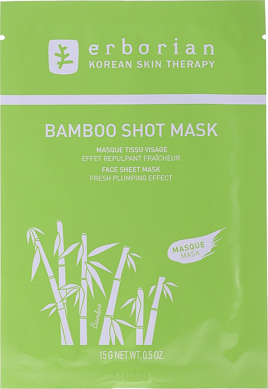Maschera viso in tessuto - Erborian Bamboo Shot Mask — foto N1