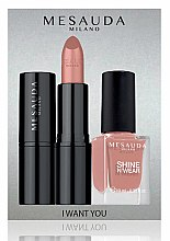 Profumi e cosmetici Set - Mesauda Milano I Want You Kit (lipstick/3.5g + nail polish/10ml) (Gothicfull)