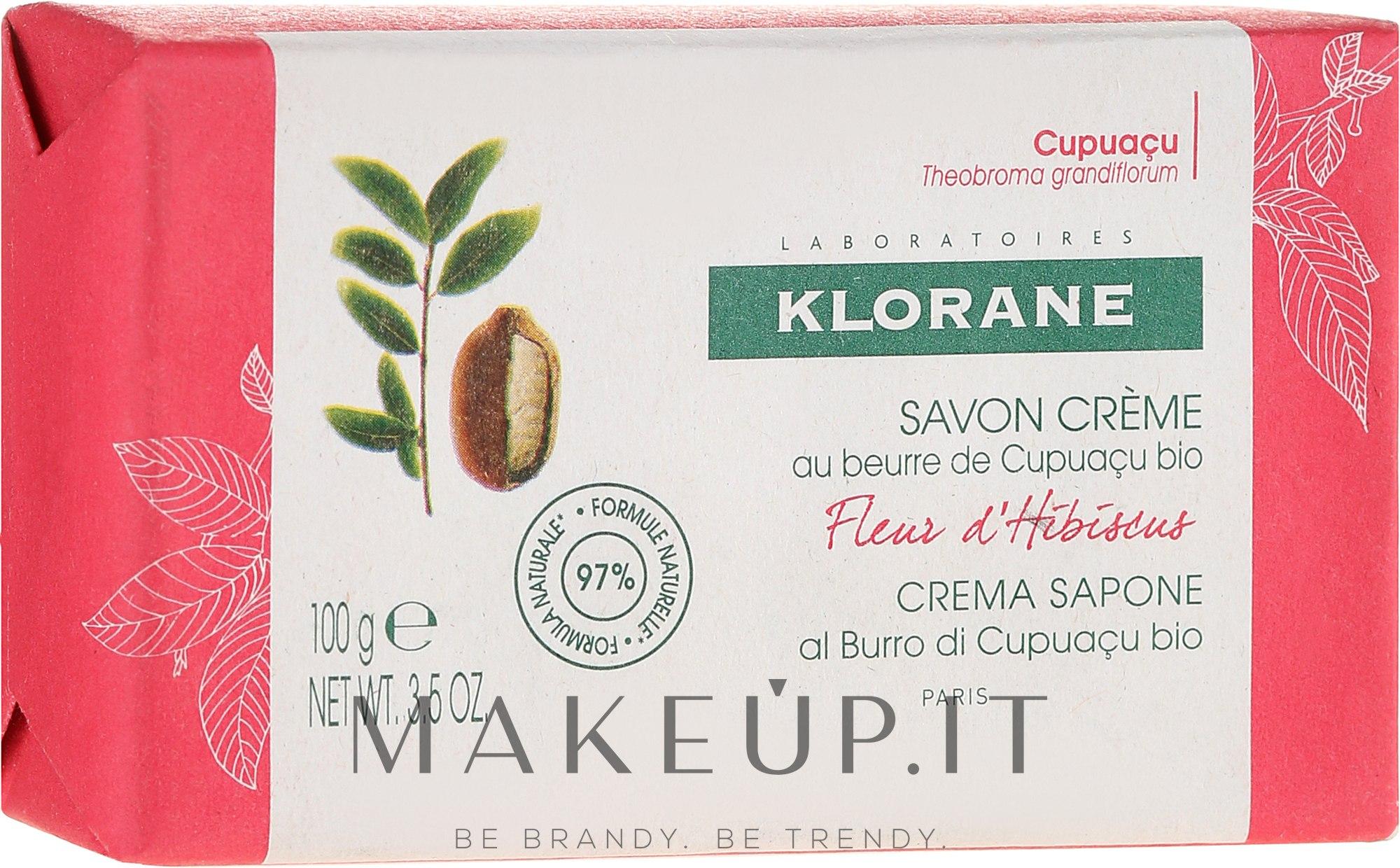 Sapone - Klorane Cupuacu Hibiscus Flower Cream Soap — foto 100 g