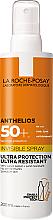 Profumi e cosmetici Crema solare ultra leggera per viso e corpo SPF50 + - La Roche-Posay Anthelios Invisible Spray