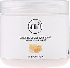 """Profumi e cosmetici Scrub zuccherato corpo """"Caramello, limone e vaniglia"""" - Naturativ Cuddling Body Sugar Scrub"""