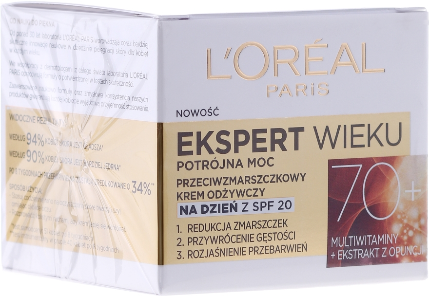 Crema antirughe, da giorno - L'Oreal Paris Age Specialist Day Cream 70+