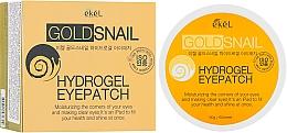 Profumi e cosmetici Patch occhi in idrogel con oro e bava di lumaca - Ekel Ample Hydrogel Eyepatch