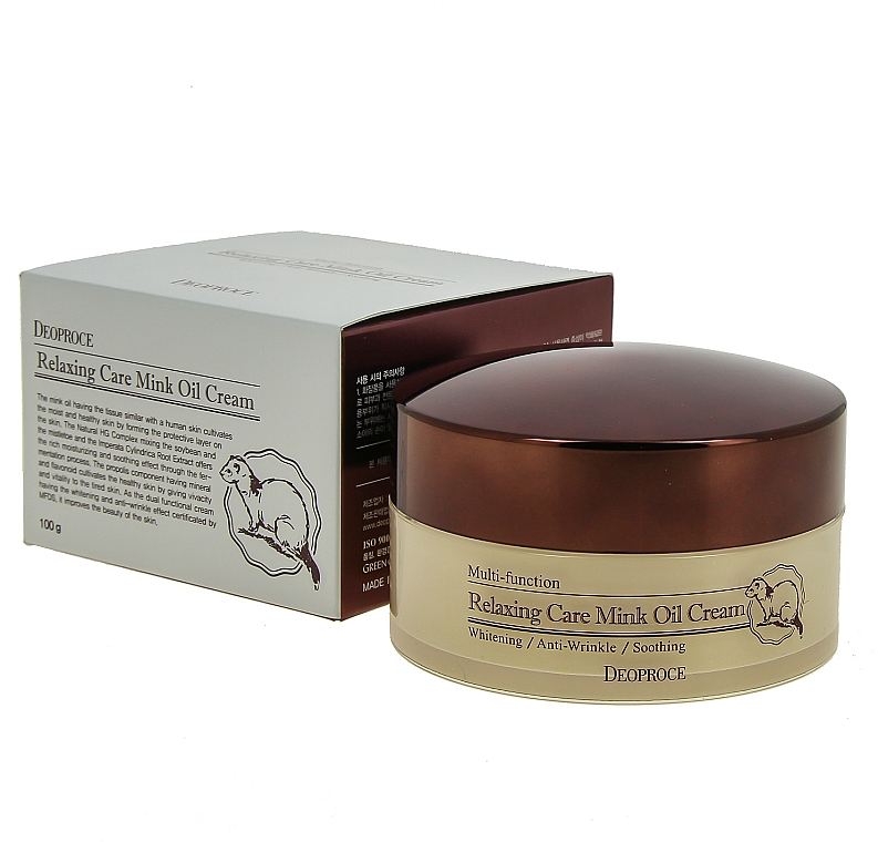 Crema rilassante all'olio di visone - Deoproce Relaxing Care Mink Oil Cream — foto N2