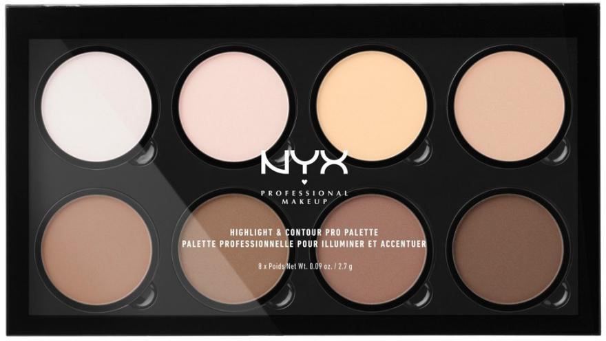 Palette contouring - NYX Professional Makeup Highlight & Contour Pro Palette