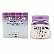 Profumi e cosmetici Crema idratante e nutriente al collagene con tè verde - Lebelage Collagen+Green Tea Moisture Cream