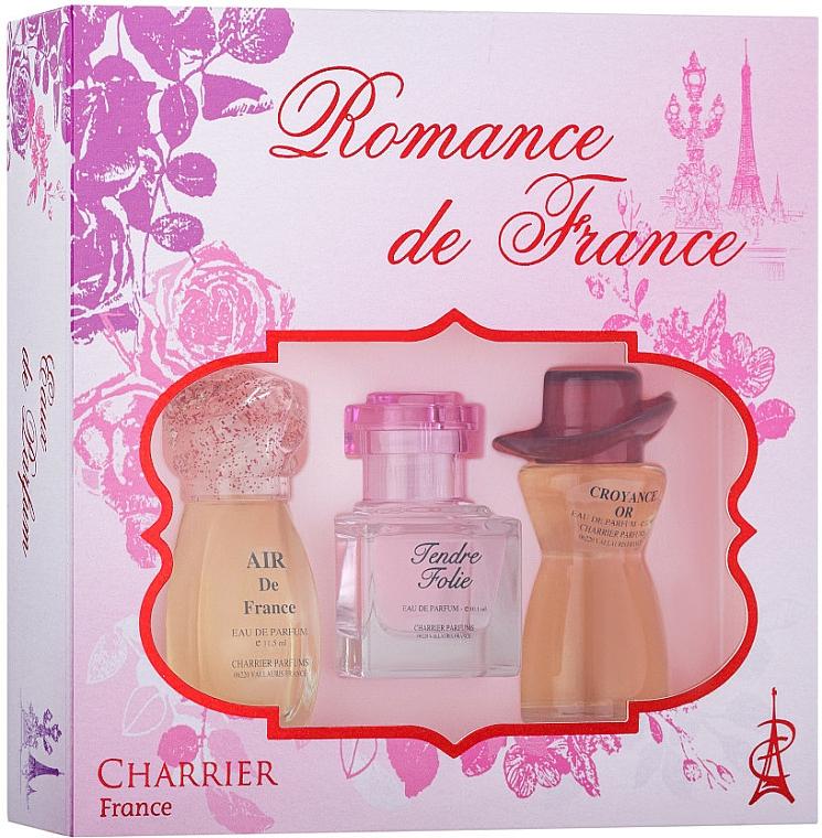 Charrier Parfums Romance De France - Set (edp/11.5ml + edp/10.1ml + edp/12ml)