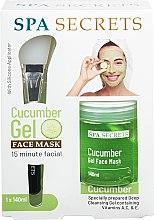 Profumi e cosmetici Set - Spa Secrets Cucumber Gel Face Mask (mask/140ml + brush/mask/1pcs)