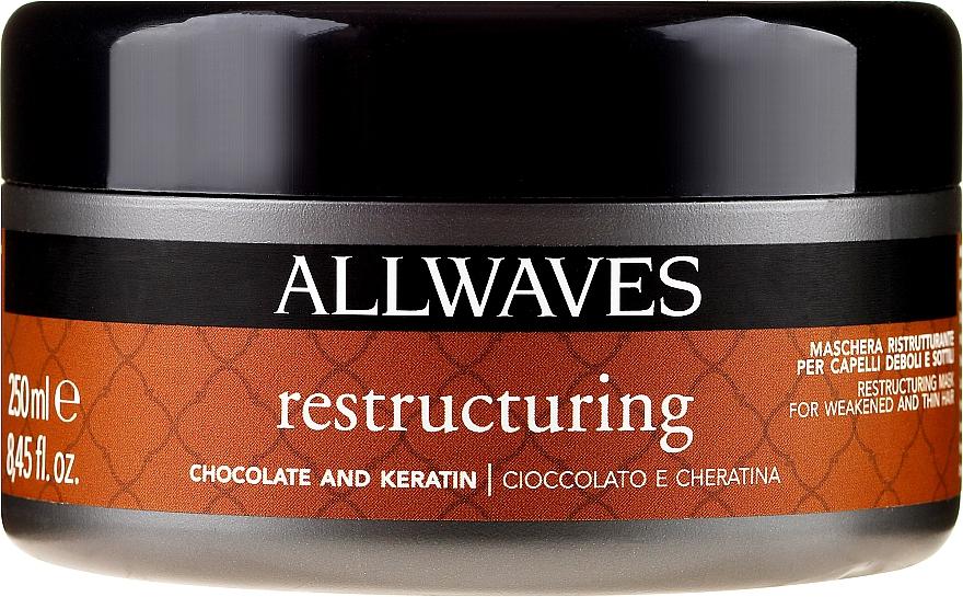 """Maschera per capelli """"Cioccolato e cheratina"""" - Allwaves Chocolate And Ceratine Restructuring Mask"""