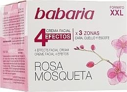 """Profumi e cosmetici Crema ringiovanente per viso e collo """"4 effetti"""" - Babaria Rosa Mosqueta 4 Effects Facial Cream"""