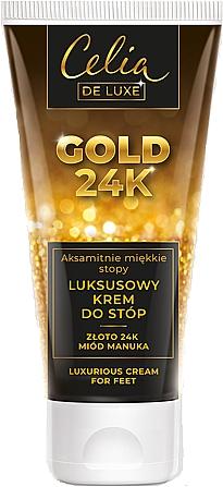 Crema piedi - Celia De Luxe Gold 24K Luxurious Foot Cream