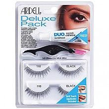 Profumi e cosmetici Set ciglia finte - Ardell Deluxe Pack 110 Black