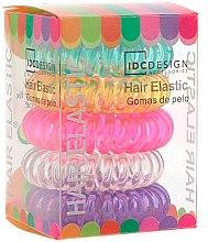 Profumi e cosmetici Set elastici multicolori per capelli, silicone, 5 pezzi - IDC Institute Design Hair Bands Pack