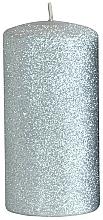 Profumi e cosmetici Candela decorativa, argento, 7x14 cm - Artman Glamour