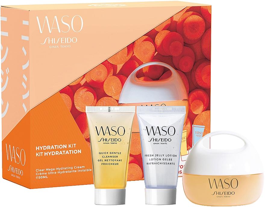 Set - Shiseido Waso Pack Mega HydratingCream Kit (f/cr/50ml + cleanser/30ml + lotion/30ml)