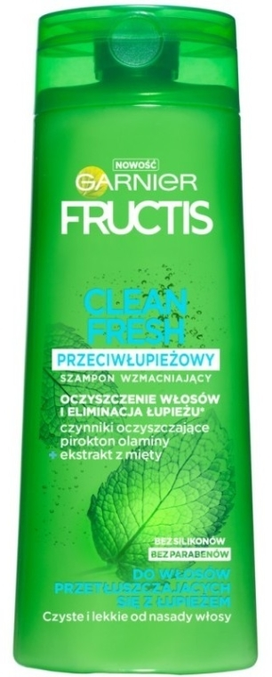 Shampoo antiforfora - Garnier New Fructis Clean Fresh Shampoo