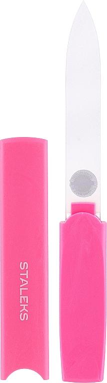 Lima unghie in vetro con custodia di plastica FBC-13-128, rosa - Staleks