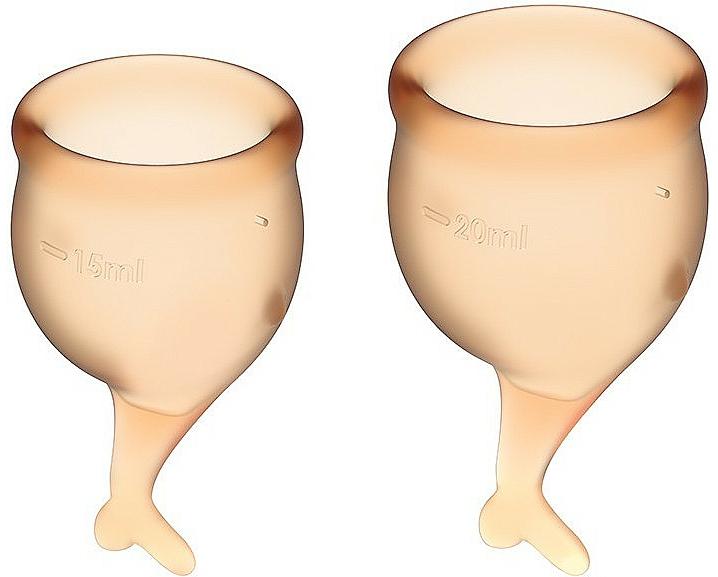 Set Coppetta mestruale, arancione - Satisfyer Feel Secure Menstrual Cups — foto N1