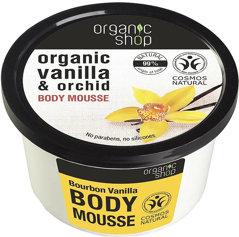 """Mousse per corpo """"Vaniglia Bourbon"""" - Organic Shop Body Mousse Organic Vanilla & Orchid"""