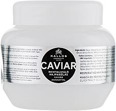 Profumi e cosmetici Maschera capelli rivitalizzante con estratto di caviale nero - Kallos Cosmetics Anti-Age Hair Mask