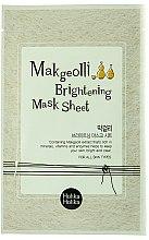 Profumi e cosmetici Maschera illuminante in tessuto con estratto di vino di riso - Holika Holika Makgeolli Brightening Mask Sheet