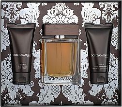 Profumi e cosmetici Dolce&Gabbana The One For Men - Set (edt/100ml + ash/balm/50ml + sh/gel/50ml)