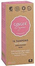 """Profumi e cosmetici Tamponi con applicatore """"Mini"""", 16 pz - Ginger Organic"""