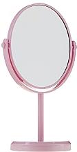 Profumi e cosmetici Specchio con supporto, ovale 85710, rosa - Top Choice Beauty Collection Mirror