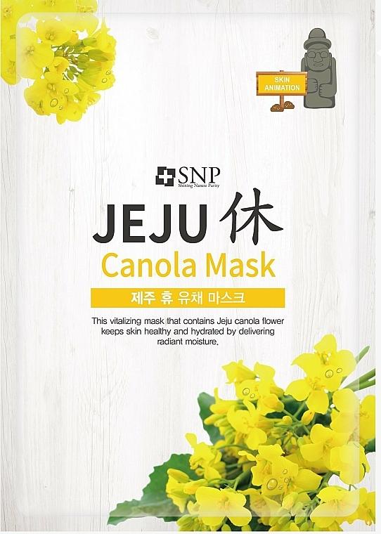 Maschera idratante all'olio di canola, in tessuto - SNP Jeju Rest Canola Mask — foto N1