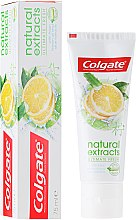 "Profumi e cosmetici Dentifricio ""Freschezza perfetta"" - Colgate Natural Extracts Ultimate Fresh Lemon"