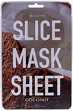 "Profumi e cosmetici Maschera viso ""Cocco"" - Kocostar Slice Mask Sheet Coconut"