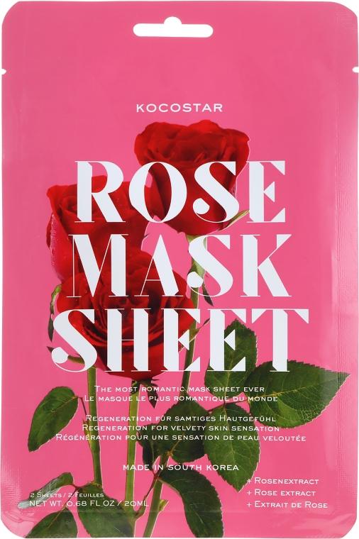 "Maschera viso lifting ""Rosa"" - Kocostar Slice Mask Sheet Rose — foto N1"