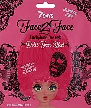 Profumi e cosmetici Maschera viso in idrogel con estratto di fave di cacao - 7 Days Face2Face Lace Hydrogel Mask Cocoa Beans