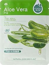 Profumi e cosmetici Maschera viso in tessuto idratante all'aloe vera - Rorec Natural Skin Aloe Mask