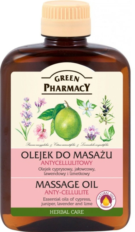 Olio massaggio anticellulite - Green Pharmacy Massage Oil Anti-Cellulite