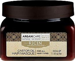 Profumi e cosmetici Maschera per la crescita dei capelli - Arganicare Castor Oil Hair Masque
