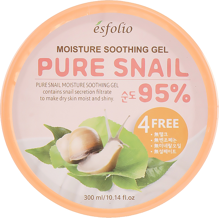 Gel idratante alla bava di lumaca - Esfolio Pure Snail Moisture Soothing Gel 95% Purity