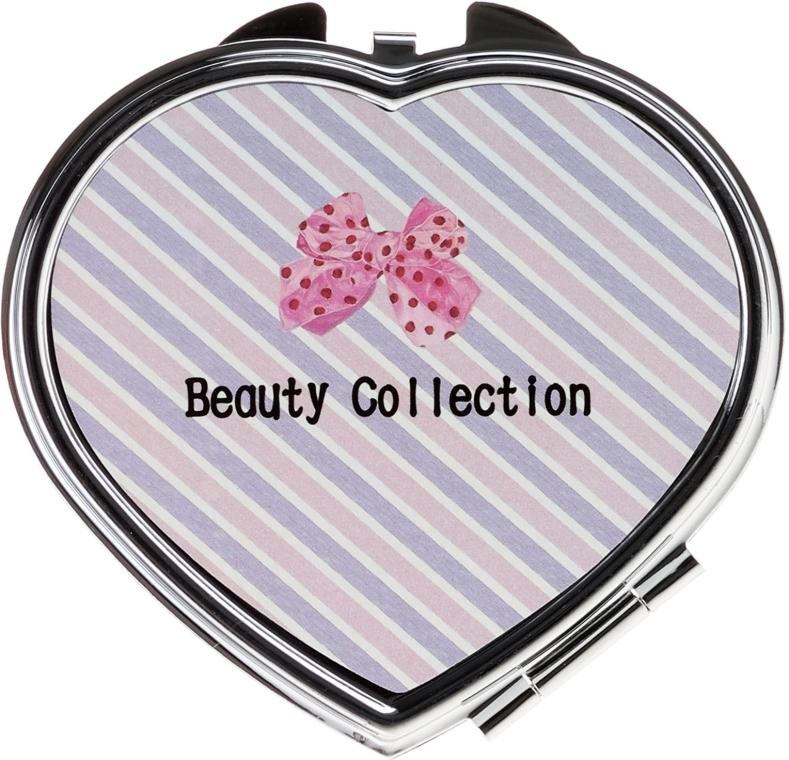 "Specchio cosmetico tascabile, 85628 ""Kompakt Serce"", rosa-beige - Top Choice — foto N1"