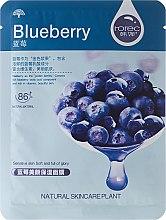 Profumi e cosmetici Maschera viso in tessuto idratante ai mirtilli - Rorec Natural Skin Blueberry Mask